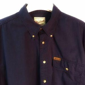 Woolrich Long Sleeve Button Down Shirt Navy Size L